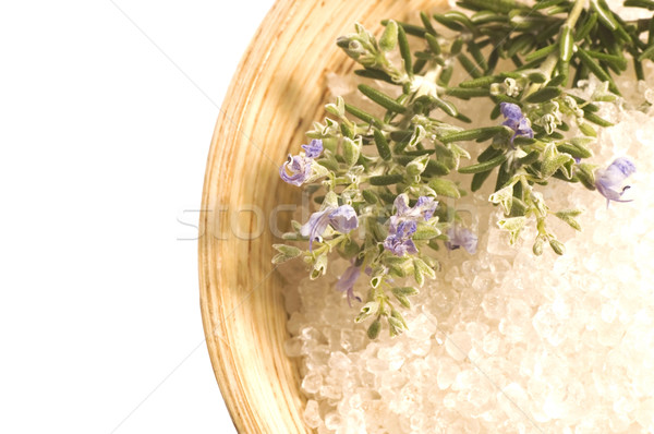 Rosmarin Salz Aroma Bad Aromatherapie Stock foto © joannawnuk