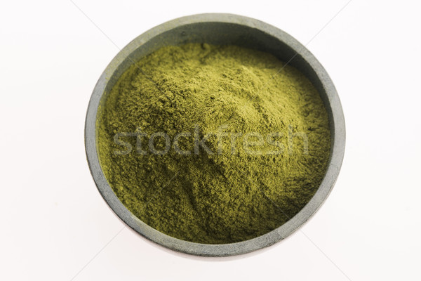 Stock photo: Young barley grass. Detox superfood.