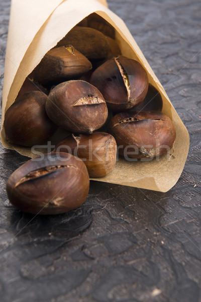 Heerlijk bos zak najaar koken Stockfoto © joannawnuk
