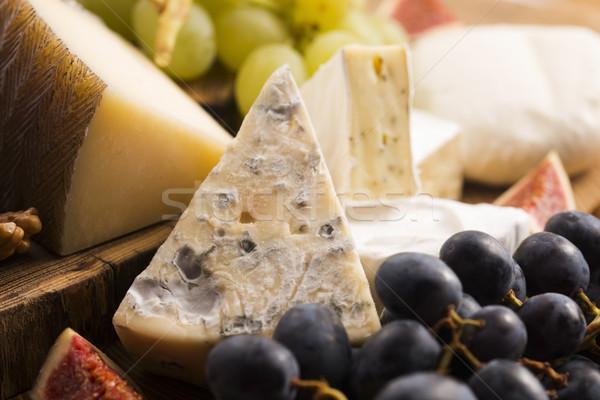 Сток-фото: сыра · плодов · виноград · фрукты · ресторан