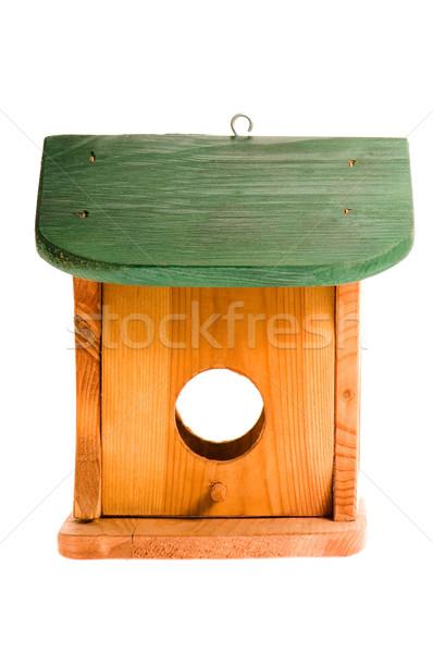 wooden birdhouse isolated on the white Stock photo © joannawnuk