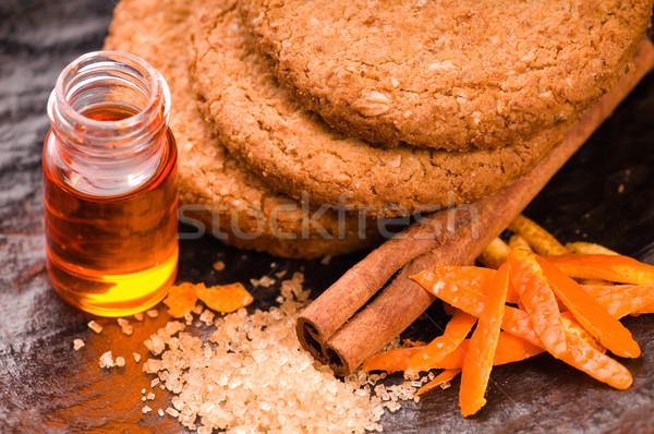 Cookies with cinnamon and orange Stock photo © joannawnuk