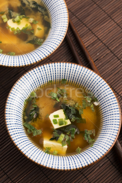 Japanese miso soup Stock photo © joannawnuk
