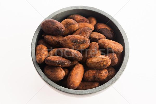 Cacau feijões chocolate cozinhar semente grão Foto stock © joannawnuk