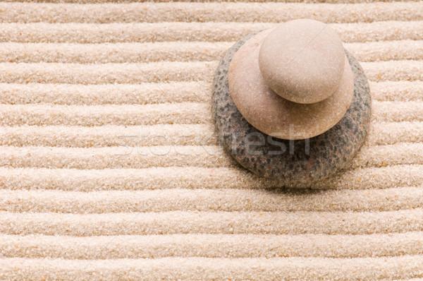 禅 石 砂 抽象的な 岩 生活 ストックフォト © joannawnuk