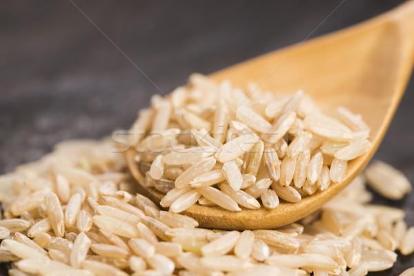 Kanál barna rizs közelkép háttér kínai Stock fotó © joannawnuk
