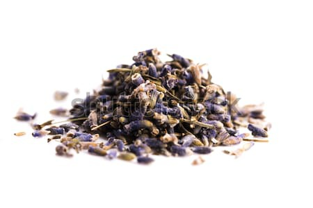 Lavender Herb Bud Flower tea Heap pile surface top view isolated Stock photo © joannawnuk