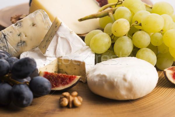 チーズ 果物 ブドウ フルーツ レストラン ストックフォト © joannawnuk