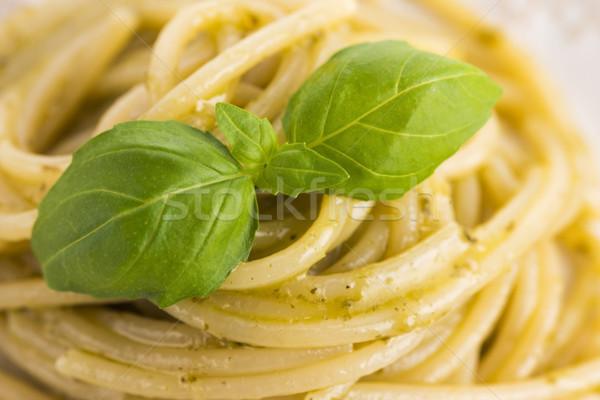 イタリア語 パスタ スパゲティ ペスト ソース バジル ストックフォト © joannawnuk
