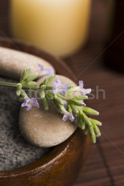 лаванды цветы здоровья нефть ванную Сток-фото © joannawnuk