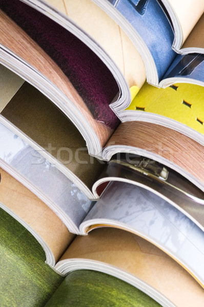 Stack of open magazines Stock photo © joannawnuk