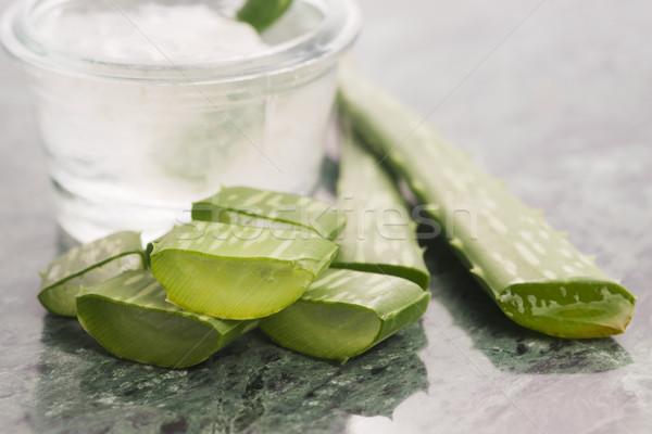 アロエ ジュース 新鮮な 葉 健康 油 ストックフォト © joannawnuk