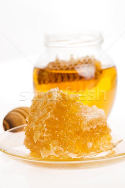 Fresche miele a nido d'ape natura arancione oro Foto d'archivio © joannawnuk