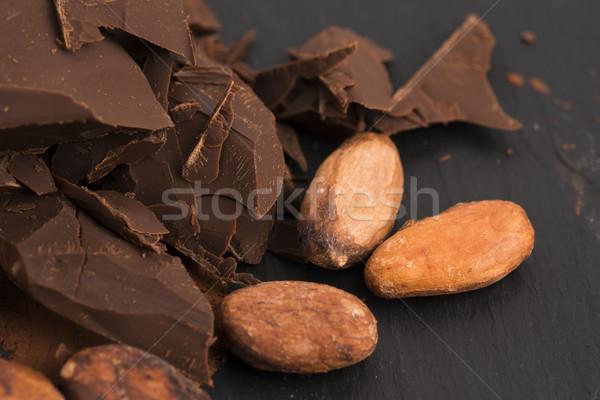 Tritato cioccolato cacao alimentare sfondo bar Foto d'archivio © joannawnuk