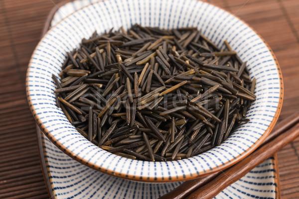 Stok fotoğraf: Pirinç · beyaz · seramik · çanak · arka · plan