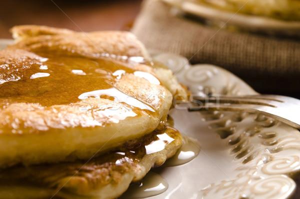 сироп пластина завтрак Кубок десерта Сток-фото © joannawnuk