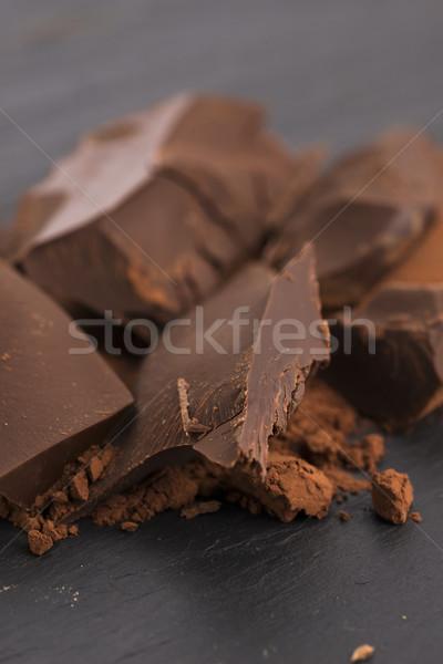 Kıyılmış çikolata kakao gıda arka plan bar Stok fotoğraf © joannawnuk
