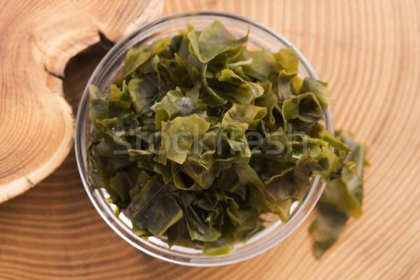Hínár japán étel étel zöld főzés zöldség Stock fotó © joannawnuk