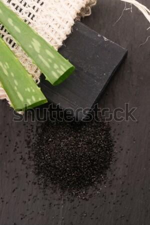ストックフォト: 自然 · カーボン · 石鹸 · アロエ · 黒 · 暗い