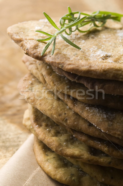 Homemade rustical crackers with rosemary Stock photo © joannawnuk