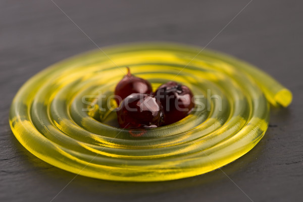 Molecular frutas espaguetis jarabe verano blanco Foto stock © joannawnuk