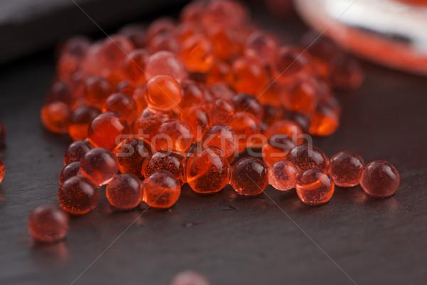 Eper kaviár molekuláris gasztronómia étel labda Stock fotó © joannawnuk