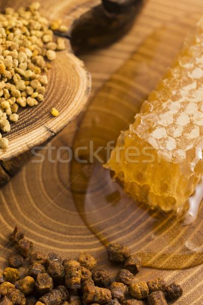 honeycomb, pollen and propolis Stock photo © joannawnuk