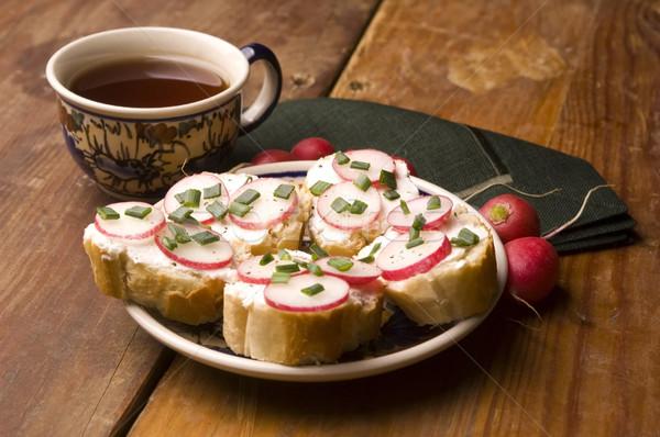 Сток-фото: сэндвич · сыра · редис · здоровья · лет