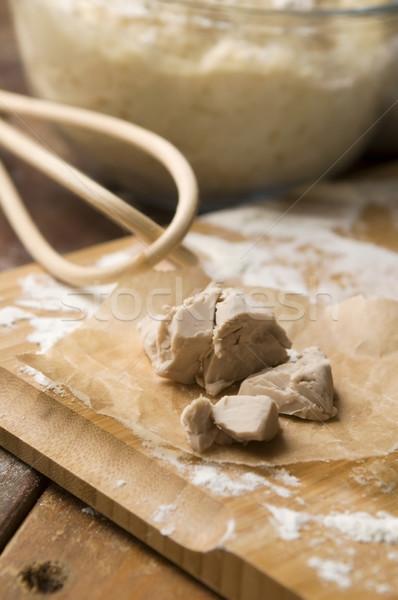 Lievito cucina tavola grano bianco Foto d'archivio © joannawnuk
