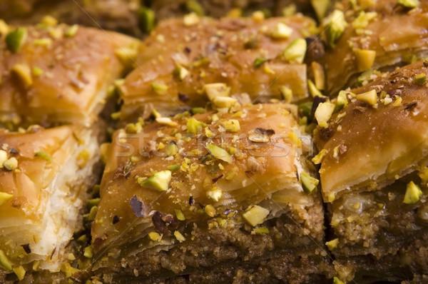 Baklava - traditional middle east sweet desert Stock photo © joannawnuk