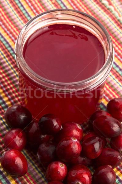 Gelei glas vruchten tabel drinken Stockfoto © joannawnuk