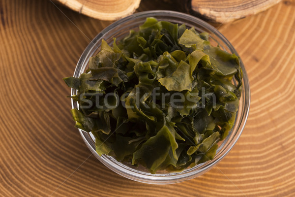 Zeewier voedsel groene koken plantaardige Stockfoto © joannawnuk