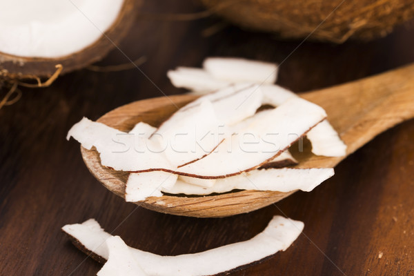 Close up of sliced coconut Stock photo © joannawnuk