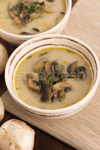 mushroom soup on a table Stock photo © joannawnuk