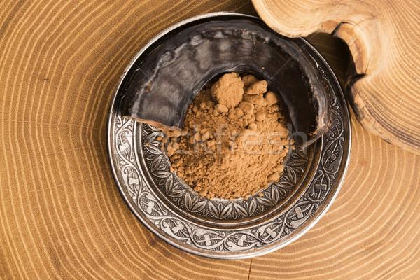 carob pods and carob powder Stock photo © joannawnuk