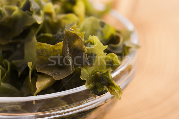 soaked wakame seaweed, japanese food Stock photo © joannawnuk