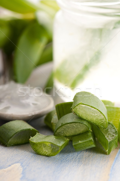 алоэ сока свежие листьев лист стекла Сток-фото © joannawnuk