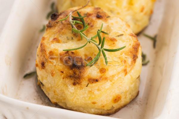 potato gratin with fresh rosemary Stock photo © joannawnuk