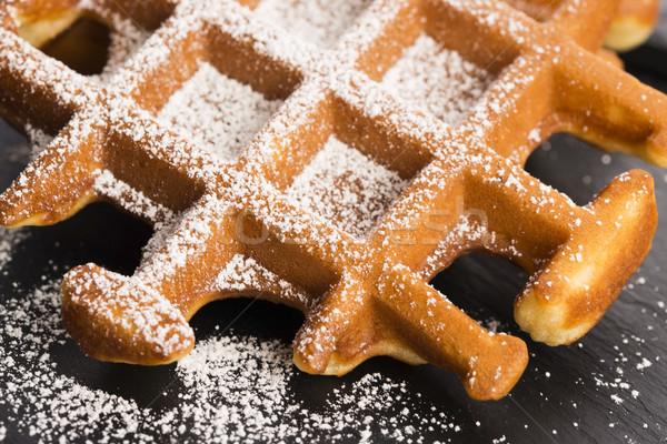 Suiker plaat ontbijt dessert lunch zoete Stockfoto © joannawnuk
