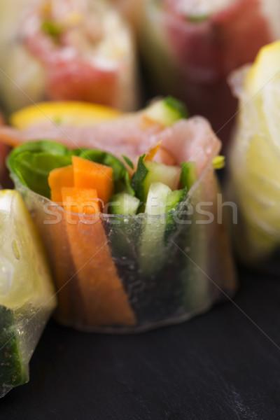 Japanese Salad Roll Stock photo © joannawnuk