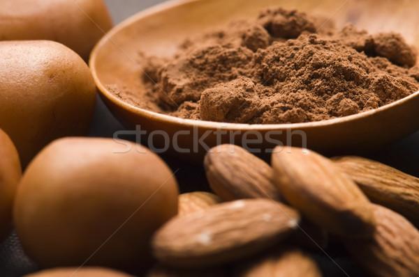 Marcipán krumpli hozzávalók csokoládé csoport cukorka Stock fotó © joannawnuk