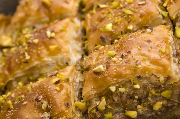традиционный Ближнем Востоке Sweet пустыне кафе шаблон Сток-фото © joannawnuk