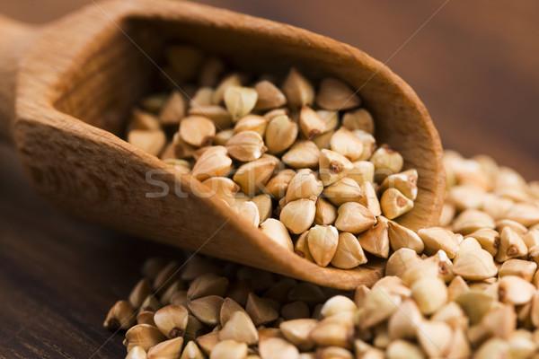 Kaşık ahşap bitki tahta tohum tahıl Stok fotoğraf © joannawnuk