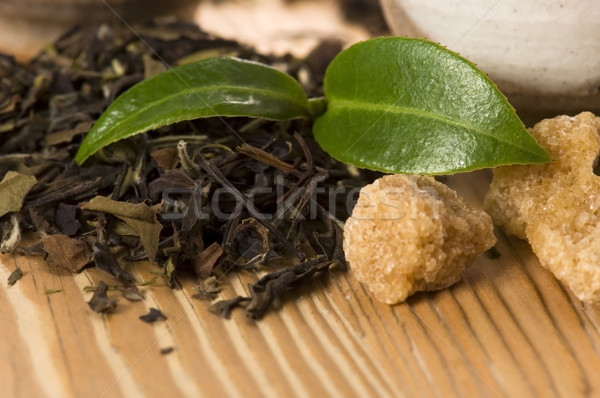 Chá verde folha copo japonês Ásia cultura Foto stock © joannawnuk