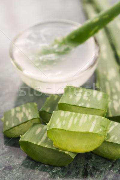アロエ ジュース 新鮮な 葉 ガラス 健康 ストックフォト © joannawnuk
