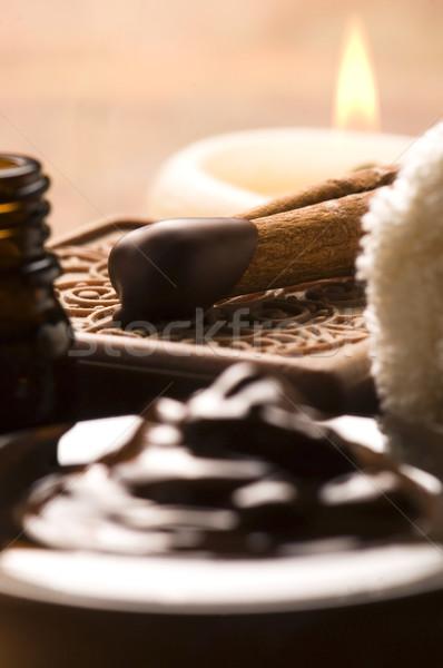 Stockfoto: Chocolade · spa · kaneel