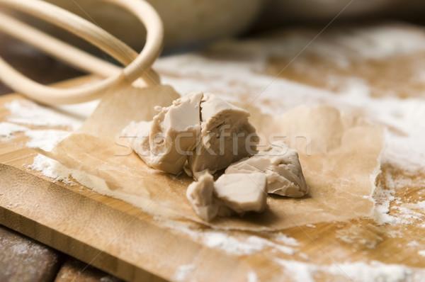Maya buğday beyaz pişirme tahta Stok fotoğraf © joannawnuk