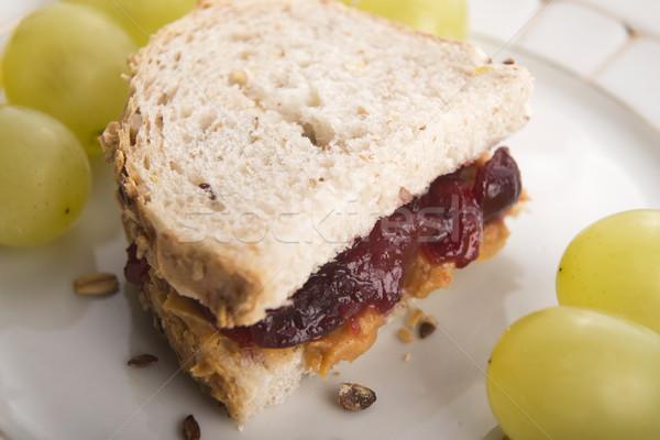 Stok fotoğraf: Fıstık · ezmesi · sandviç · gıda · sağlık · ekmek