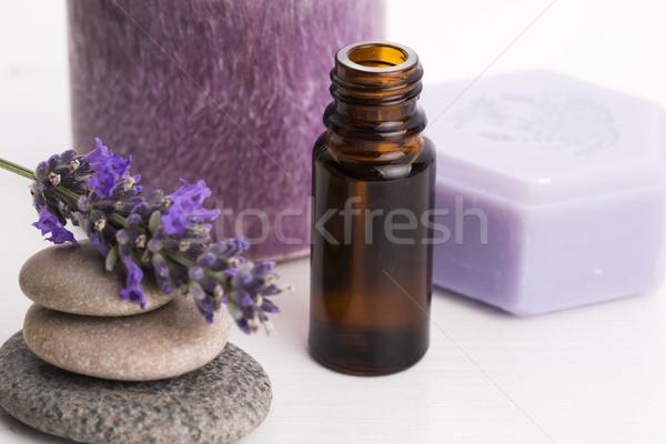 Foto stock: Lavanda · flores · saúde · Óleo · banheiro