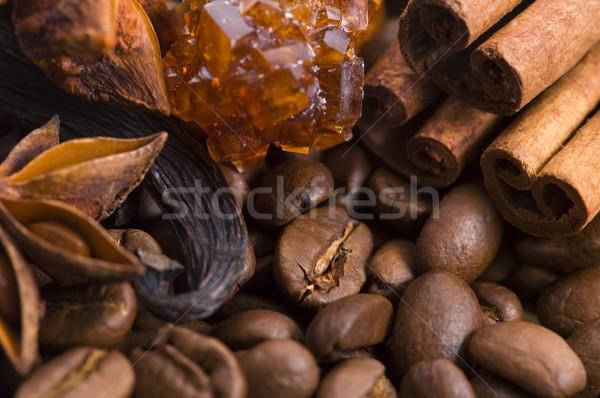аромат кофе Ингредиенты анис шоколадом корицей Сток-фото © joannawnuk